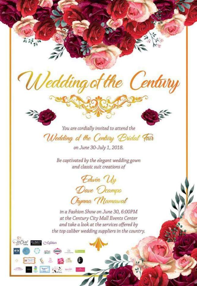 Wedding of the Century Bridal Fair + Directory of Top Caliber Wedding Suppliers | Philippines